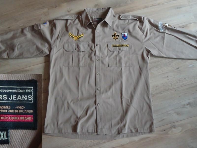Een nieuw beige overhemd van Cars Jeans (maat: XXL).